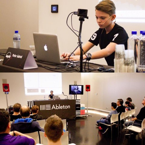 Workshop producing  house music with Ableton at Dancefair 2016 by PieterGabriel PTRGBRL