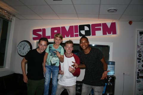 Dj pietergabriel in the studio at Radio Slam FM by Igmar